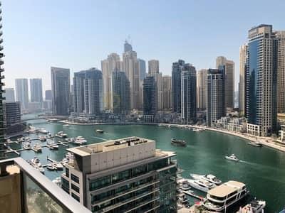 شقة 1 غرفة نوم للايجار في دبي مارينا، دبي - Well Maintained|Large  1BR+ Study|Bright and Spacious|Vacant NOW