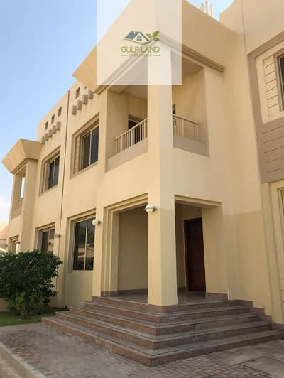 فیلا 5 غرفة نوم للايجار في بين الجسرين، أبوظبي - 5 master bedrooms villa in bein al jessrin area with maids room store room wash room and private swimming pool