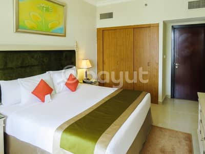 1 Bedroom Hotel Apartment for Rent in Dubai Media City, Dubai - One Bedroom  City View Hotel Apartment Utility Bills Included Free Wi-Fi