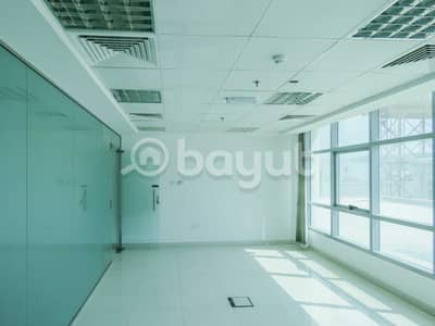 office with glasses partition  for rent