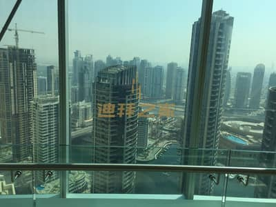 2 Bedroom Apartment for Rent in Jumeirah Beach Residence (JBR), Dubai - Huge 2BHK-Full Marina  and  Sea View in Al Futtan Tower 2
