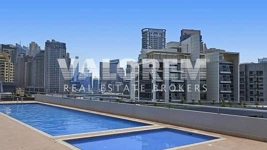 1 Bedroom Flat for Rent in Dubai Marina, Dubai - Cheapest A minute walk to the beach Semi fitted