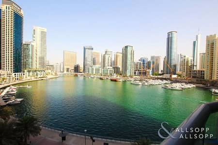 فلیٹ 1 غرفة نوم للبيع في دبي مارينا، دبي - Full Open Marina Views | Balcony | 1 Bed