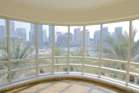 2 Bedroom Flat for Rent in Dubai Marina, Dubai - Full Marina View   Unfurnished   Wood floor