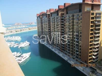 شقة 2 غرفة نوم للايجار في نخلة جميرا، دبي - Furnished Vacant 2BR Maids C type High Floor MR