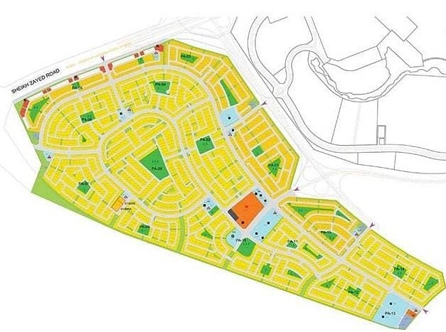 8 Single Row |VIP Location |Freehold Villa Plot |Jebel Ali Hills