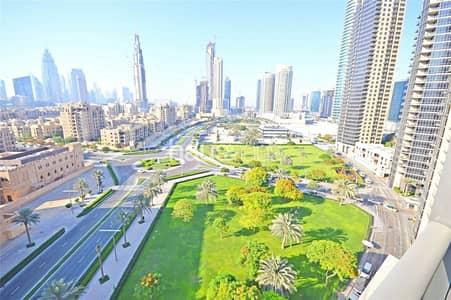 3 Bedroom Apartment for Rent in Downtown Dubai, Dubai - High Floor | Burj Khalifa Views | Maids Room