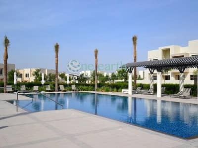 3 Bedroom Townhouse for Rent in Reem, Dubai - Single Row | On Pool & Park | 3Bed + Maids