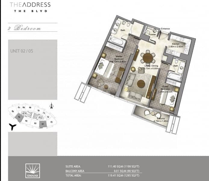 15 SPECIAL 2 BED FULL BURJ & FOUNTAIN VIEW IN ADDRESS BLVD