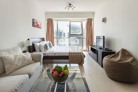 Studio for Rent in Jumeirah Lake Towers (JLT), Dubai - Lake View I Higher Floor I Furnished I Near Metro