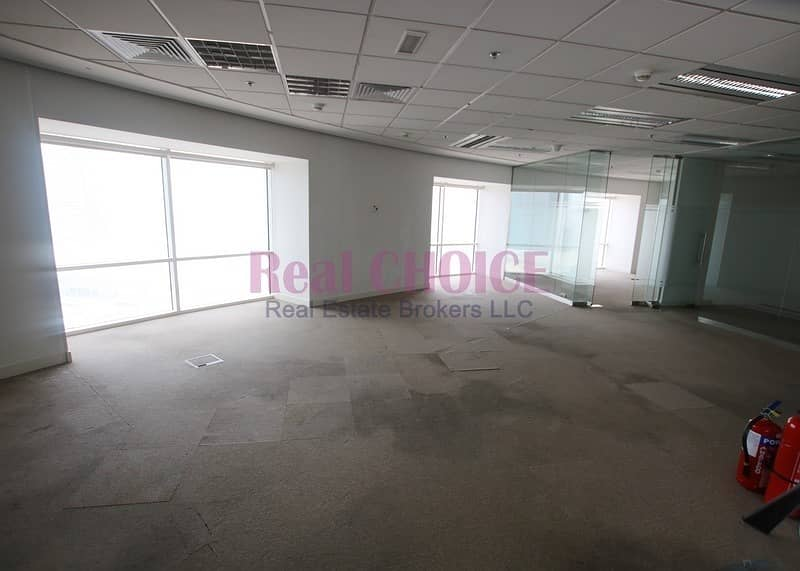 2 Full Floor Fitted Office with Glass Partitions