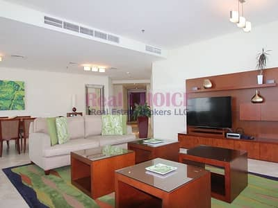 4 Bedroom Hotel Apartment for Rent in Jumeirah Beach Residence (JBR), Dubai - Free Utility Charges | Relaxing Sea View|Furnished