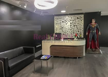 Office for Rent in Barsha Heights (Tecom), Dubai - Fully Furnished Spacious Office With Pantry Inside