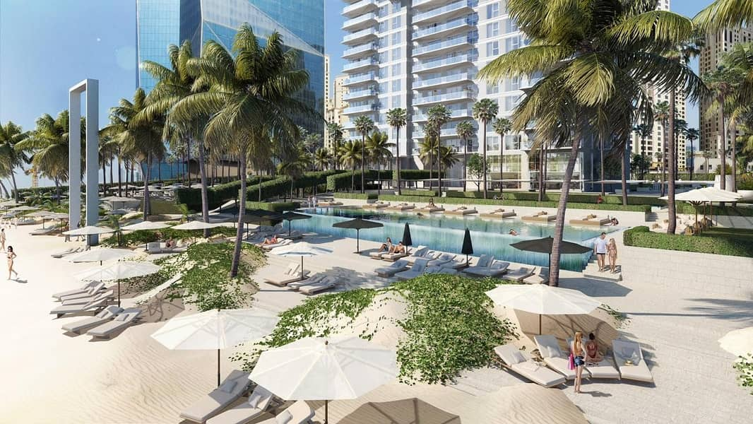 Panoramic Beach View in One Bedroom Furnished Apartment in La Vie at JBR/ Flexible Payment Plan