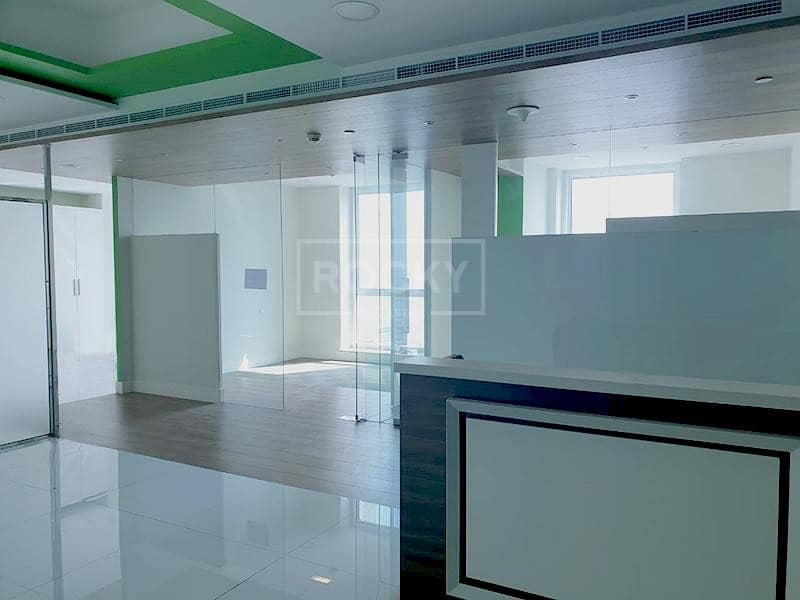 2 Office with Partition | High Floor | Latifa Tower