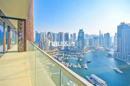 3 Bedroom Apartment for Rent in Dubai Marina, Dubai - Full Marina View   Bright and Spacious   Brand New