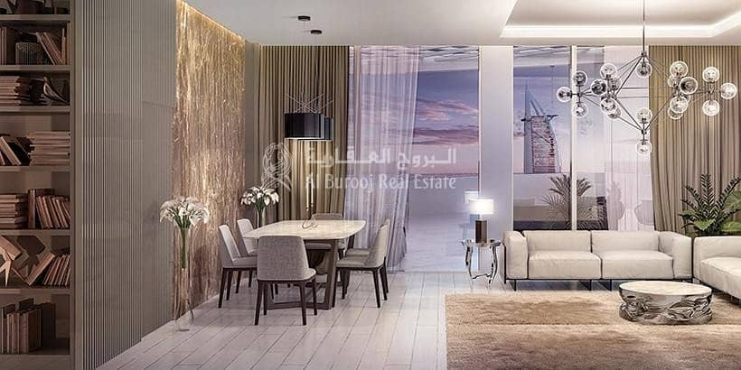 2 Luxurious 1 Bedroom with full SEA VIEW in Aziz MINA