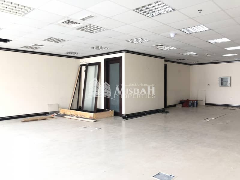 9 1345 sq.ft Fitted Office for Rent in Al Garhoud with Free Chiller and Two parking