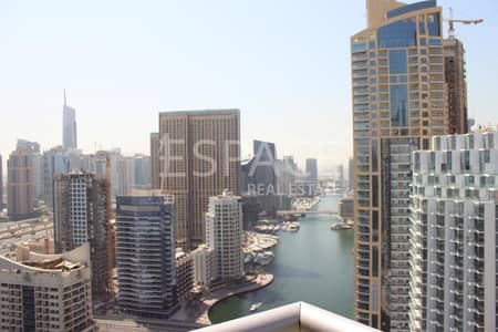 شقة 2 غرفة نوم للايجار في دبي مارينا، دبي - High Floor - Full Marina View - Vacant