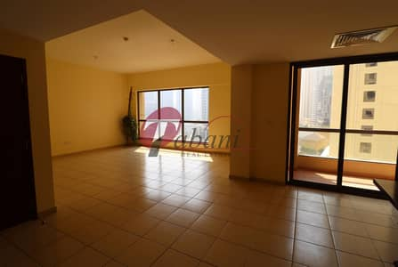 3 Bedroom Apartment for Rent in Jumeirah Beach Residence (JBR), Dubai - Spacious 3BR + Maids Partial Marina View