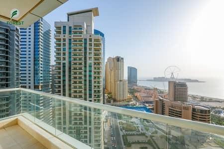 فلیٹ 1 غرفة نوم للبيع في دبي مارينا، دبي - Full Sea View | Nice Layout | Vacant | Furnished