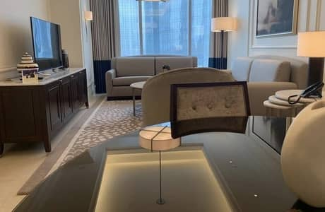 1 Bedroom Hotel Apartment for Sale in Downtown Dubai, Dubai - Luxury Fully Furnished Service Apartment In The Address The Blvd sea view
