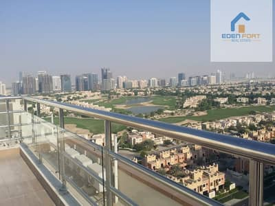 2 Bedroom Flat for Rent in Dubai Sports City, Dubai - 2 BD apartment with huge balcony | Golf Course view