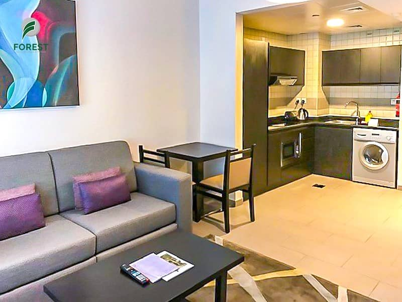 Hotel Apartment | Furnished 1 BR | Close to Metro