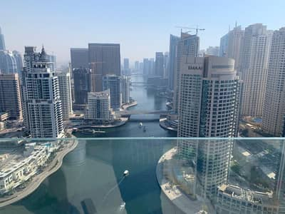 2 Bedroom Apartment for Rent in Dubai Marina, Dubai - Full Marina View Big Windows 2 Bedroom Apartment