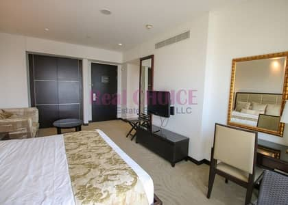 Hotel Apartment for Rent in Dubai Marina, Dubai - Studio with an Amazing View|Furnished