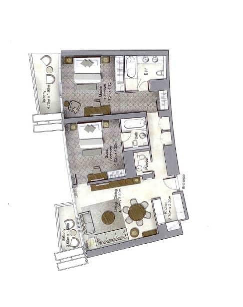 10 2 Bedroom | Full DIFC Views | High Floor