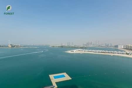 فلیٹ 3 غرف نوم للايجار في نخلة جميرا، دبي - Full Sea View   High Floor   Furnished   3BR+Study