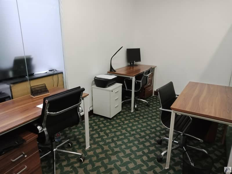 BRAND NEW CUSTOMIZED SMART PRIVATE OFFICES AT  SHEIKH ZAYED ROAD|LUXURIOUS LOCATION  WITH ALL FACILITIES