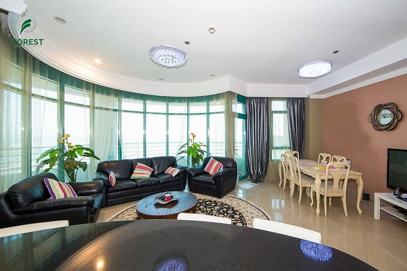 2 Furnished 2 Beds with Sea View   Well Maintained