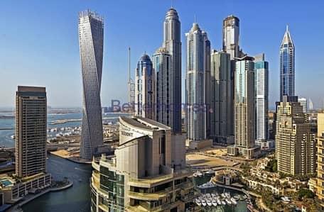 فلیٹ 2 غرفة نوم للايجار في دبي مارينا، دبي - Marinascape Oceanic | with Study | High Floor