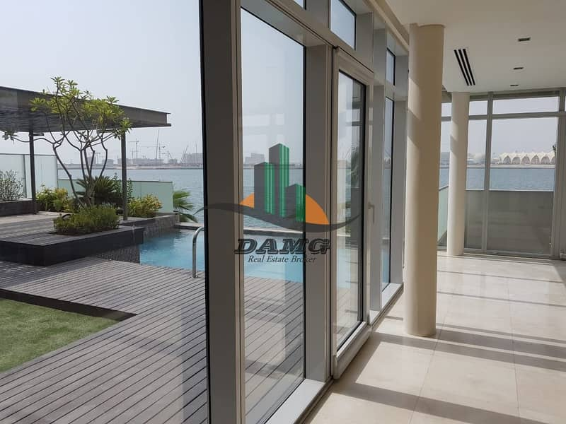2 Al Raha beach 5 bedroom luxury villa with private sea access
