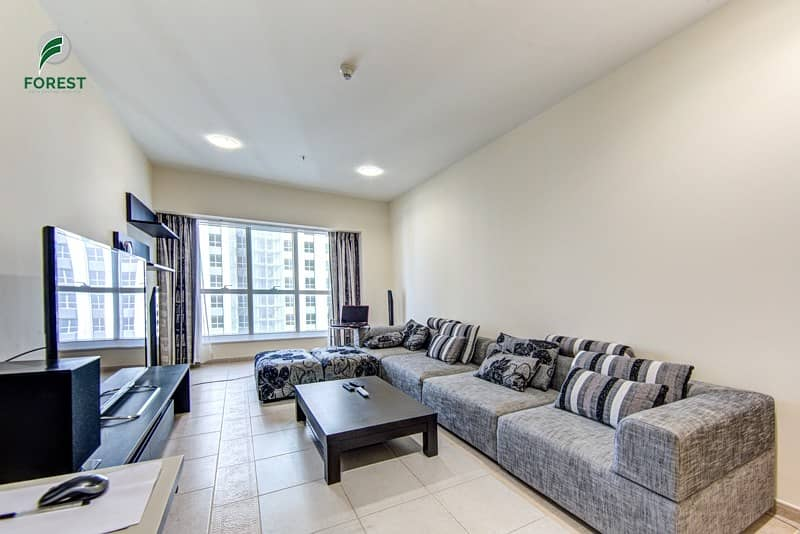 Well Maintained 2 BR| Partial Sea View| High Floor
