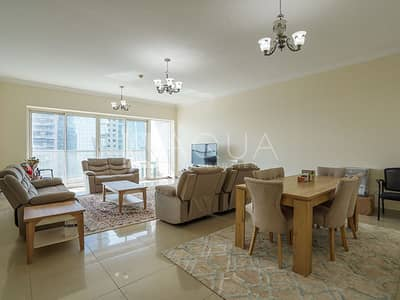 3 Bedroom Apartment for Rent in Jumeirah Lake Towers (JLT), Dubai - Spacious 3 BR Plus Maid Room Lake Views
