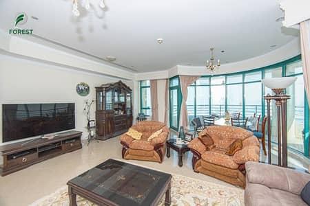 3 Bedroom Apartment for Rent in Dubai Marina, Dubai - Full Sea View | Unfurnished | 3BR | High Floor