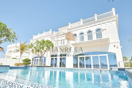 6 Bedroom Villa for Sale in Palm Jumeirah, Dubai - Most Coveted Tip Villa Panoramic SeaView
