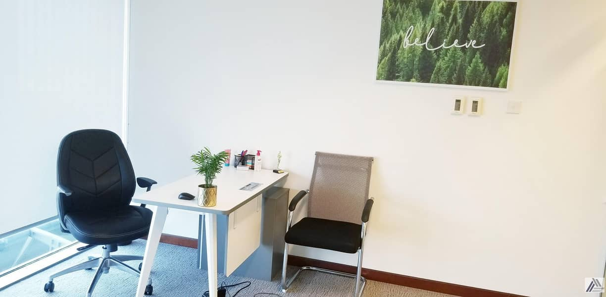 FULLY FURNISHED & SERVICED OFFICES FOR NEW LICENSE  RENEWAL  UNLIMITED VISAS LABOR INSPECTIONS MEETING ROOM  FACILITY