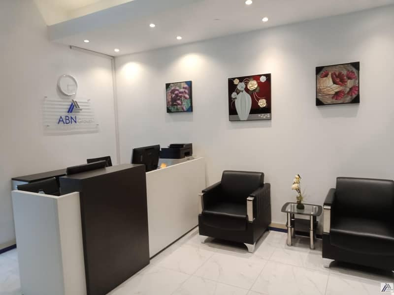 2 FULLY FURNISHED & SERVICED OFFICES FOR NEW LICENSE  RENEWAL  UNLIMITED VISAS LABOR INSPECTIONS MEETING ROOM  FACILITY
