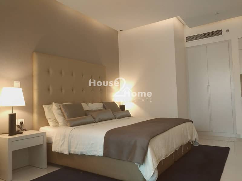 2 4 cheques Payment  | Luxourious Studio Apartment  with canal view for Rent | Damac the Vogue Tower