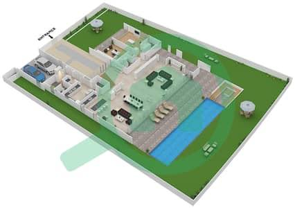 المخططات الطابقية لتصميم النموذج B1 فیلا 6 غرف نوم - غولف بلايس