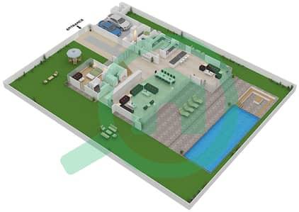 المخططات الطابقية لتصميم النموذج B2 فیلا 6 غرف نوم - غولف بلايس