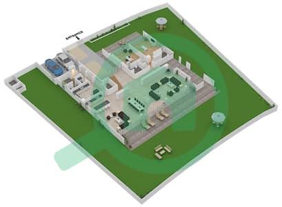 المخططات الطابقية لتصميم النموذج B1-A فیلا 6 غرف نوم - غولف بلايس
