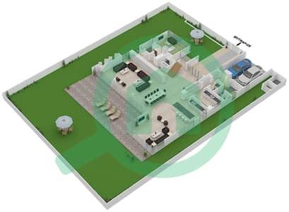 المخططات الطابقية لتصميم النموذج B2-A فیلا 6 غرف نوم - غولف بلايس