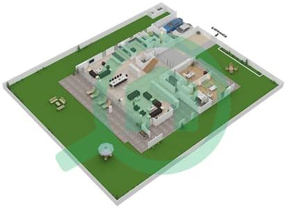 المخططات الطابقية لتصميم النموذج B1-B فیلا 6 غرف نوم - غولف بلايس