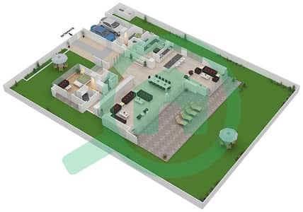 المخططات الطابقية لتصميم النموذج B2-B فیلا 6 غرف نوم - غولف بلايس