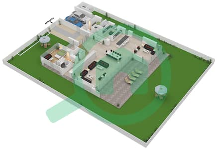 المخططات الطابقية لتصميم النموذج B2-C فیلا 6 غرف نوم - غولف بلايس